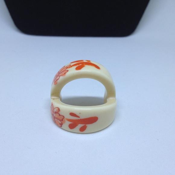 Jewelry | Vintage Resin Ivory Scarf Ring | Poshmark